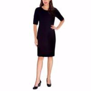 Mario Serrani Italy Textured Women Knit Dress, XS